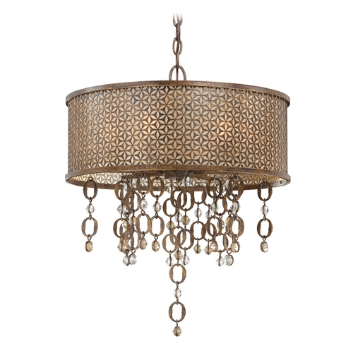 Metropolitan Lighting Drum Pendant Light in French Bronze Finish N6728-258