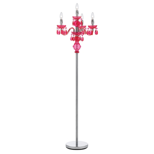 AF Lighting Floor Lamp in Pink Finish 8512-FL