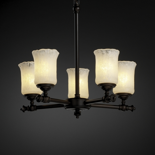 Justice Design Group Justice Design Group Veneto Luce Collection Chandelier GLA-8520-16-WHTW-DBRZ