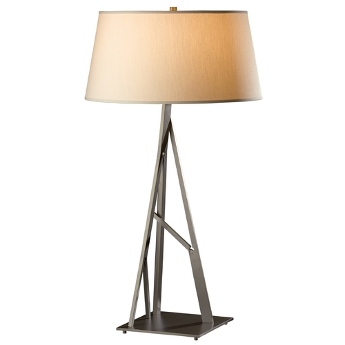 Hubbardton Forge Lighting Hubbardton Forge Lighting Arbo Burnished Steel Table Lamp with Empire Shade 277690-08-715