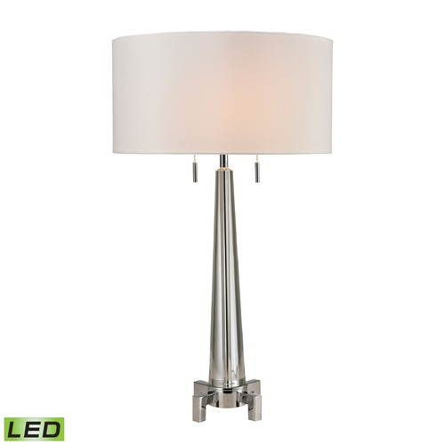 Dimond Lighting Dimond Lighting Clear, Chrome LED Table Lamp with Drum Shade D2681-LED
