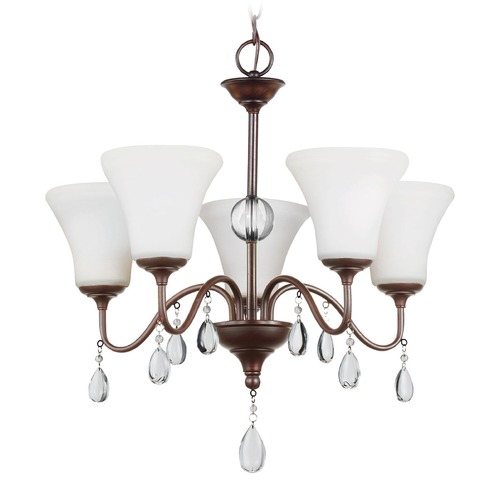 Sea Gull Lighting Sea Gull Lighting West Town Burnt Sienna Chandelier 3210505-710