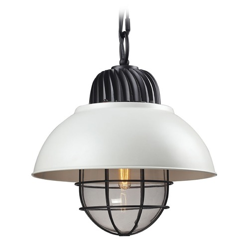 Elk Lighting Elk Lighting Darby Oil Rubbed Bronze/white Pendant Light with Bowl / Dome Shade 66371/1