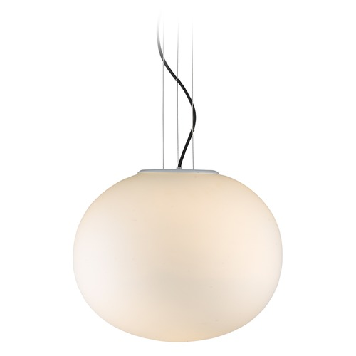Golden Lighting Golden Lighting Moon Satin Nickel LED Pendant Light with Oval Shade C173-01-SN-OP