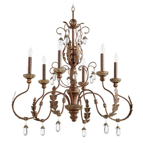 Quorum Lighting Quorum Lighting Venice Vintage Copper Chandelier 6444-6-39