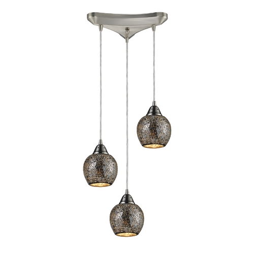Elk Lighting Multi-Light Pendant Light 3-Lights 10208/3SLV