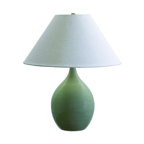 House of Troy Lighting Table Lamp with White Shade in Celedon Finish GS300-CG
