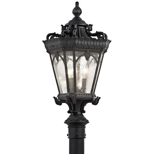 Kichler Lighting Kichler Post Light with Clear Glass in Textured Black Finish 9558BKT