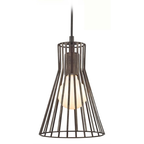Design Classics Lighting Mini-Pendant with Silver Slatted Shade and LED Bulb 815 SIL/10W LED