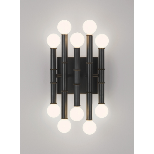 Robert Abbey Lighting Mid-Century Modern Sconce Bronze Jonathan Adler Meurice by Robert Abbey Z686