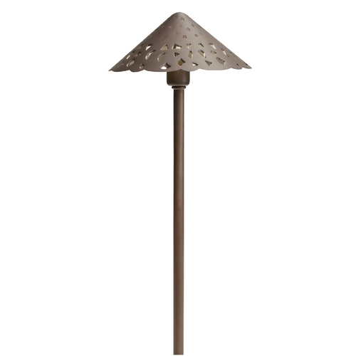 Kichler Lighting Kichler Lighting Landscape LED Bronzed Brass LED Path Light 15871BBR27