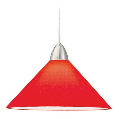 WAC Lighting Wac Lighting Contemporary Collection Brushed Nickel Mini-Pendant with Conical Shade MP-512-RD/BN