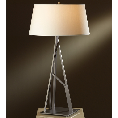 Hubbardton Forge Lighting Hubbardton Forge Lighting Arbo Burnished Steel Table Lamp with Empire Shade 277690-08-716