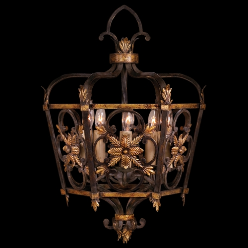 Fine Art Lamps Fine Art Lamps Castile Antiqued Iron with Gold Leaf Pendant Light 242749ST