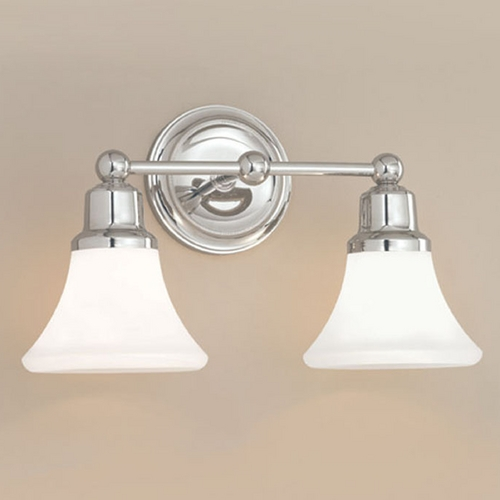 Norwell Lighting Norwell Lighting Elizabeth Polished Nickel Bathroom Light 8952-PN-FL