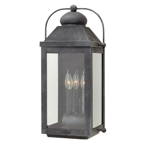 Hinkley Lighting Hinkley Lighting Anchorage Aged Zinc Outdoor Wall Light 1855DZ