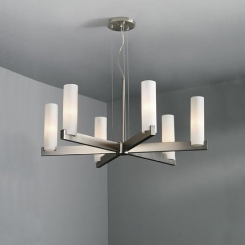 Illuminating Experiences Illuminating Experiences 6-Light Chandelier in Satin Nickel ELF15