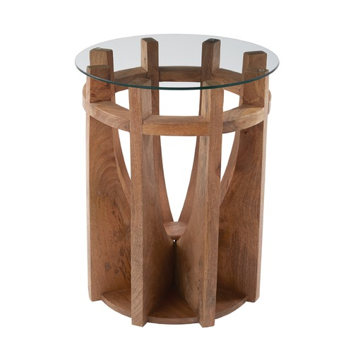 Dimond Lighting Wooden Sundial Side Table 985-037