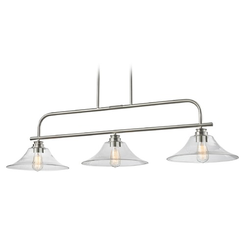 Z-Lite Z-Lite Annora Brushed Nickel Island Light with Bell Shade 428-3B-BN