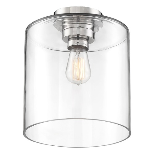 Nuvo Lighting Satco Lighting Chantecleer Polished Nickel / Clear Semi-Flushmount Light 60/6778