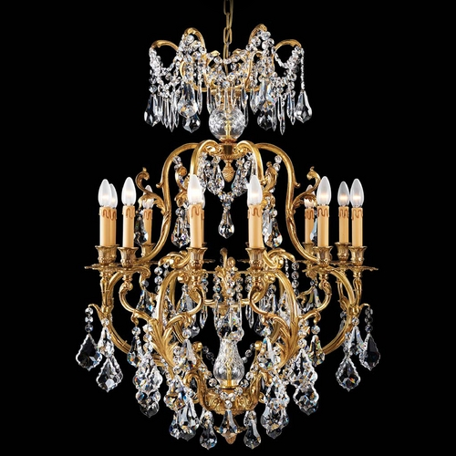 Metropolitan Lighting Crystal Chandelier in French Gold Finish N9701