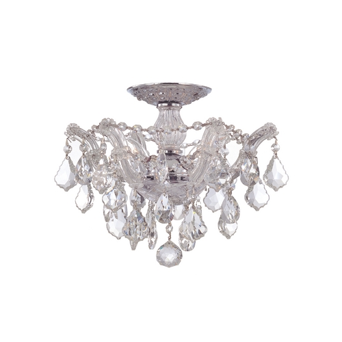 Crystorama Lighting Crystal Semi-Flushmount Light in Polished Chrome Finish 4430-CH-CL-S