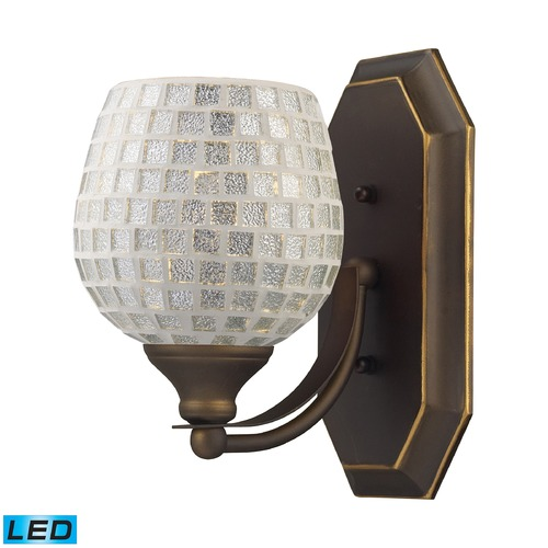Elk Lighting Elk Lighting Bath and Spa Aged Bronze LED Sconce 570-1B-SLV-LED