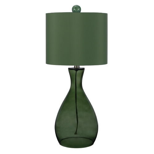 AF Lighting Table Lamp with Green Shade in Green Finish 8515-TL
