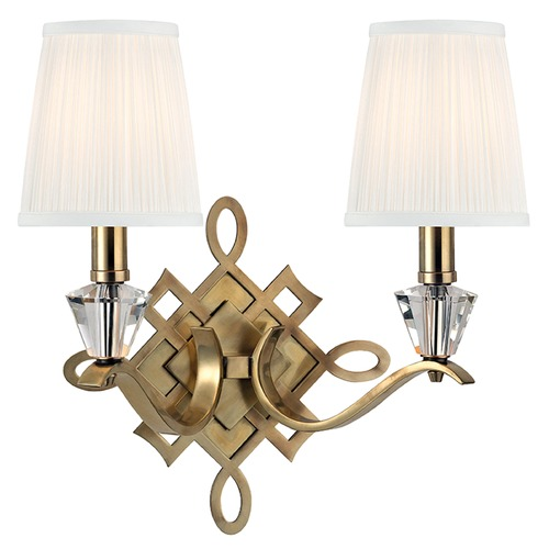 Hudson Valley Lighting Fowler 2 Light Sconce - Aged Brass 8182-AGB