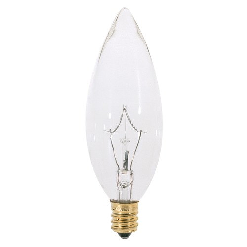 Satco Lighting Incandescent Flame Light Bulb Candelabra Base 120V by Satco S3282