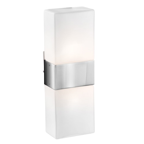 Access Lighting Access Lighting Nitros Brushed Steel Sconce 62242-BS/OPL