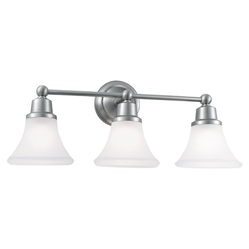 Norwell Lighting Norwell Lighting Elizabeth Brush Nickel Bathroom Light 8953-BN-FL