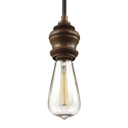 Feiss Lighting Feiss Corddello Weathered Oak Mini-Pendant Light P1368WO