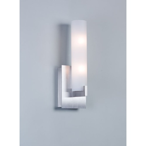 Illuminating Experiences Illuminating Experiences Elf 1 Satin Nickel Fluorescent Sconce ELF1F