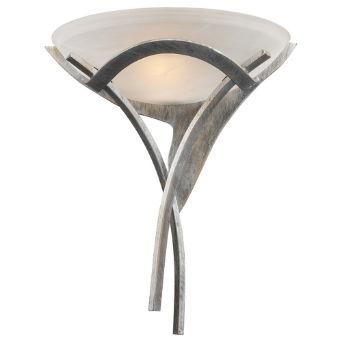 Elk Lighting Modern Sconce Wall Light with Amber Glass in Tarnished Silver Finish 001-TS