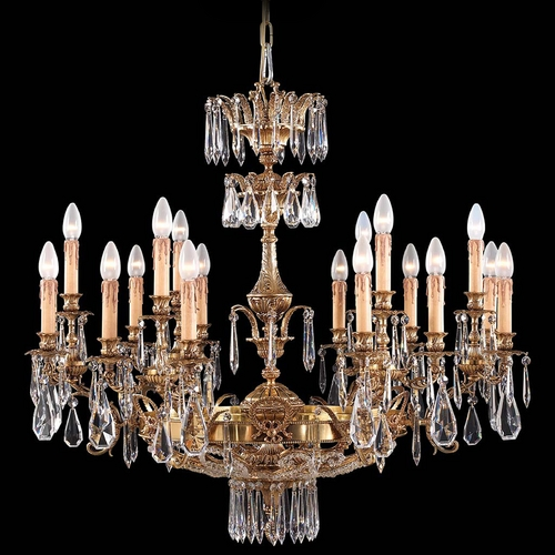 Metropolitan Lighting Crystal Chandelier in French Gold Finish N9702