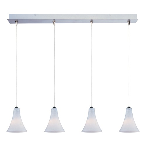 ET2 Lighting Minx Satin Nickel Pendant Light with Bell Shade E94934-105SN