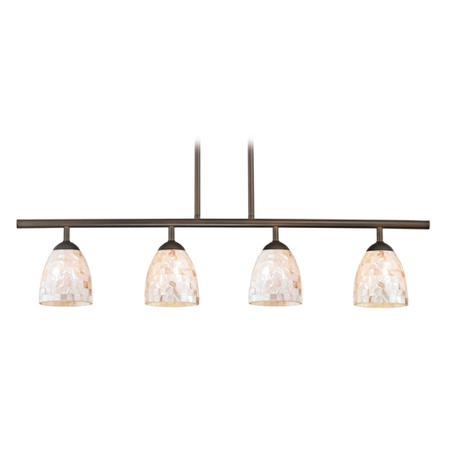 Design Classics Lighting Island Light with Beige / Cream Glass in Neuvelle Bronze Finish 718-220 GL1026MB