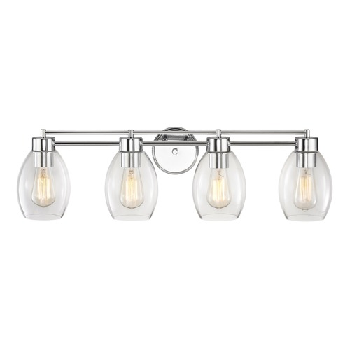 Design Classics Lighting Chrome Bathroom Light 704-26 GL1034-CLR