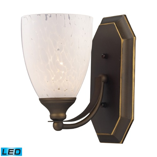 Elk Lighting Elk Lighting Bath and Spa Aged Bronze LED Sconce 570-1B-SW-LED