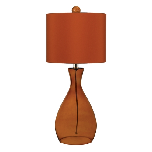 AF Lighting Table Lamp with Orange Shade in Orange Finish 8516-TL