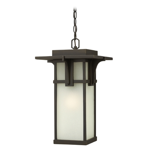 Hinkley Lighting Outdoor Hanging Light with White Glass in Oil Rubbed Bronze Finish 2232OZ