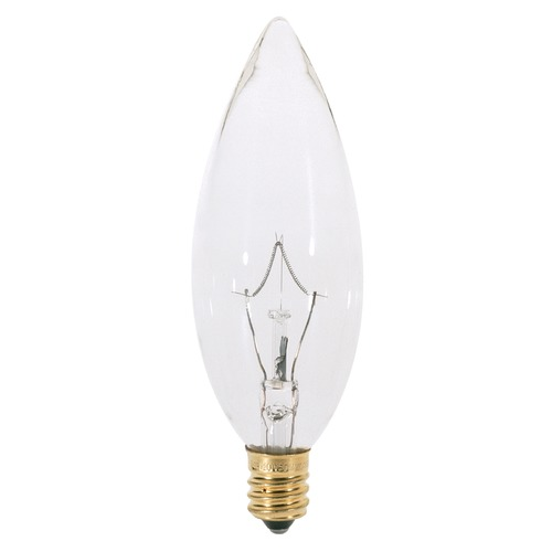 Satco Lighting Incandescent Flame Light Bulb Candelabra Base 120V by Satco S3283