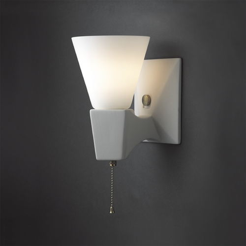 Justice Design Group Plug-In Wall Lamp in Bisque Finish CER-7010-BIS