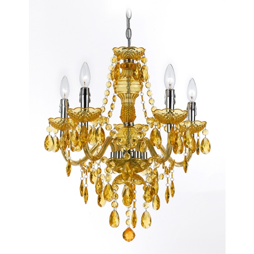 AF Lighting Chandelier in Gold Finish 8523-5H