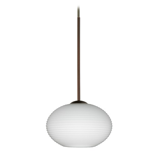 Besa Lighting Besa Lighting Lasso Bronze LED Mini-Pendant Light with Globe Shade 1XT-561207-LED-BR