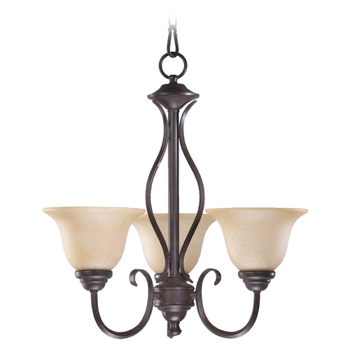 Quorum Lighting Quorum Lighting Spencer Toasted Sienna Mini-Chandelier 6010-3-44