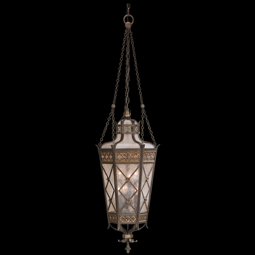 Fine Art Lamps Fine Art Lamps Chateau Outdoor Umber Patina with Gold Accents Outdoor Hanging Light 402482ST