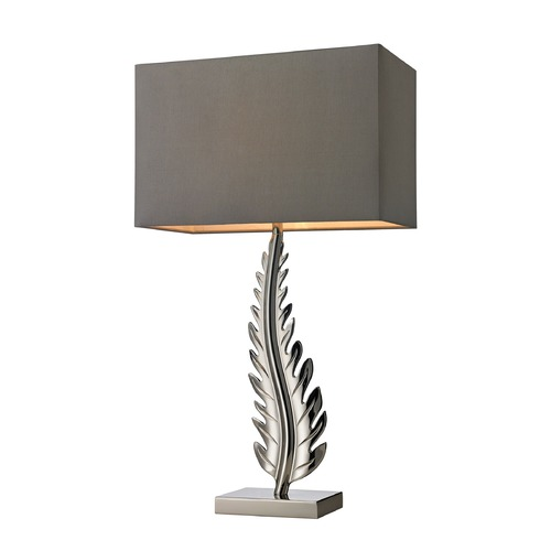 Dimond Lighting Dimond Lighting Polished Nickel Table Lamp with Rectangle Shade D2683