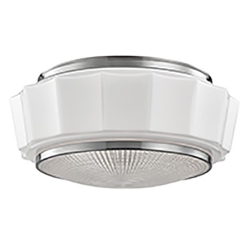Hudson Valley Lighting Odessa 3 Light Flushmount Light Drum Shade - Satin Nickel 3816F-SN